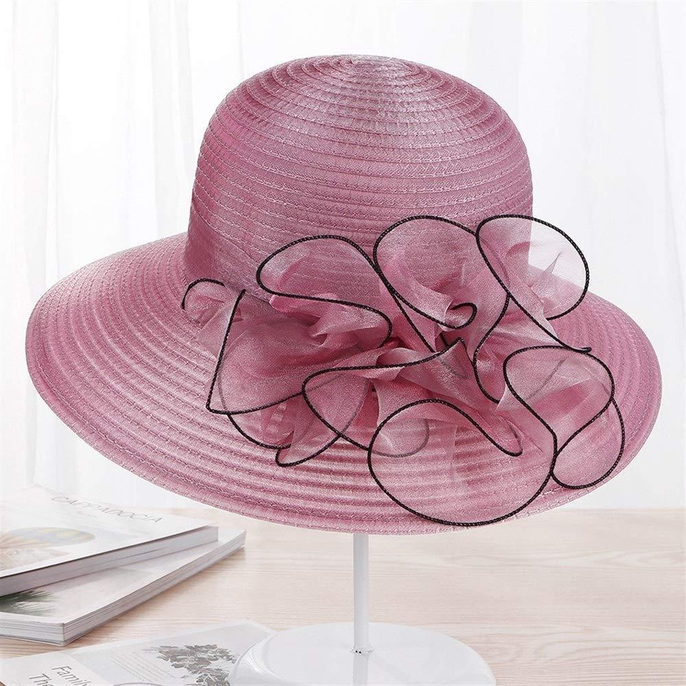 GXF New UV Protection Sunshade Ladies Summer Travel Wild Sun hat Color : E