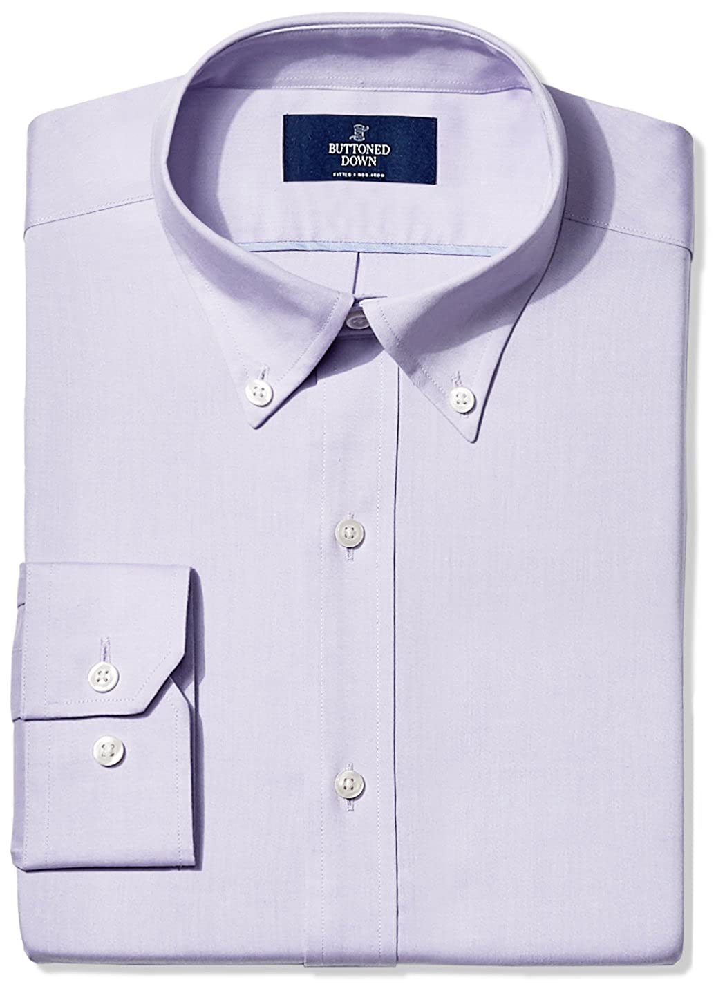 Amazon Buttoned Down Mens Fitted Solid Pinpoint Non Iron Dress