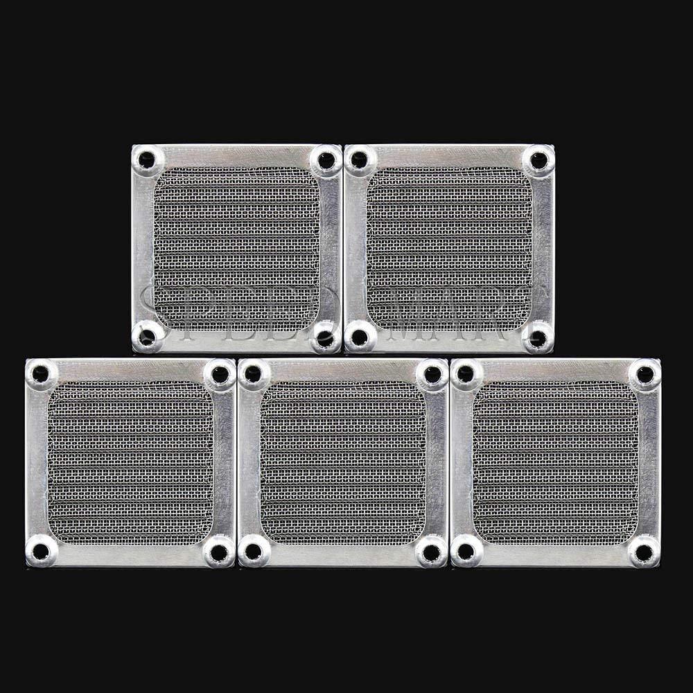 FidgetFidget 5 x 60mm Aluminum Cooling Dustproof Dust Filter Grill Mesh Guard PC CASE CPU Fan