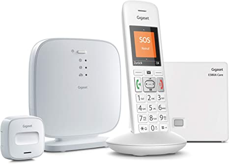 Gigaset - Alarma para Personas Mayores (con botón de Alarma y teléfono, función SOS, Sistema de notificación Inteligente para Solos, para Mayor Seguridad, Smart Care SOS), Color Blanco: Amazon.es: Electrónica