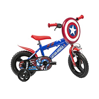 Dino Bikes 412UL-CA Marvel Captain America Kids Bicycle, Red: Toys & Games