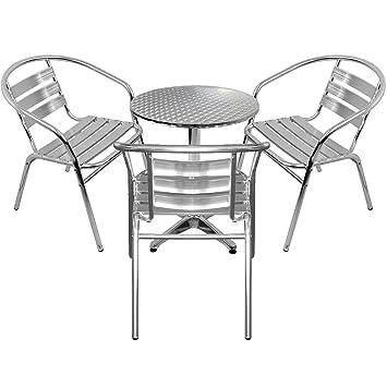 Amazonde Wohaga 4er Set Gartenmöbel Gartengarnitur Aluminium