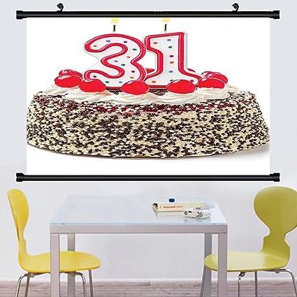 Amazon Gzhihine Wall Scroll 31st Birthday Decorations Joyful