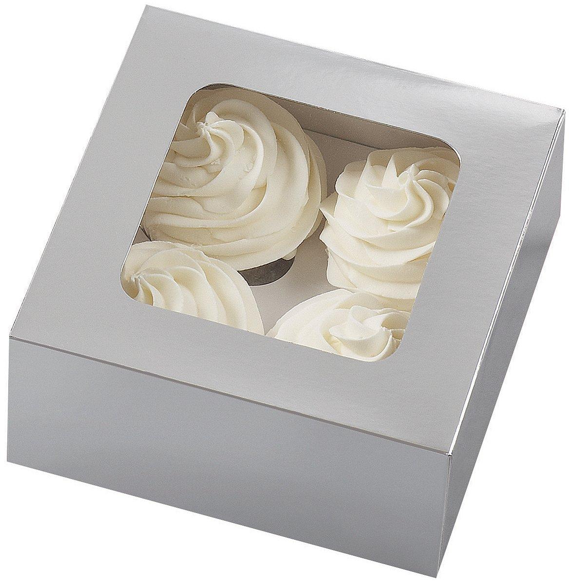 Wilton 415-0731 3-Pack 4-Cavity Cupcake Box , Black
