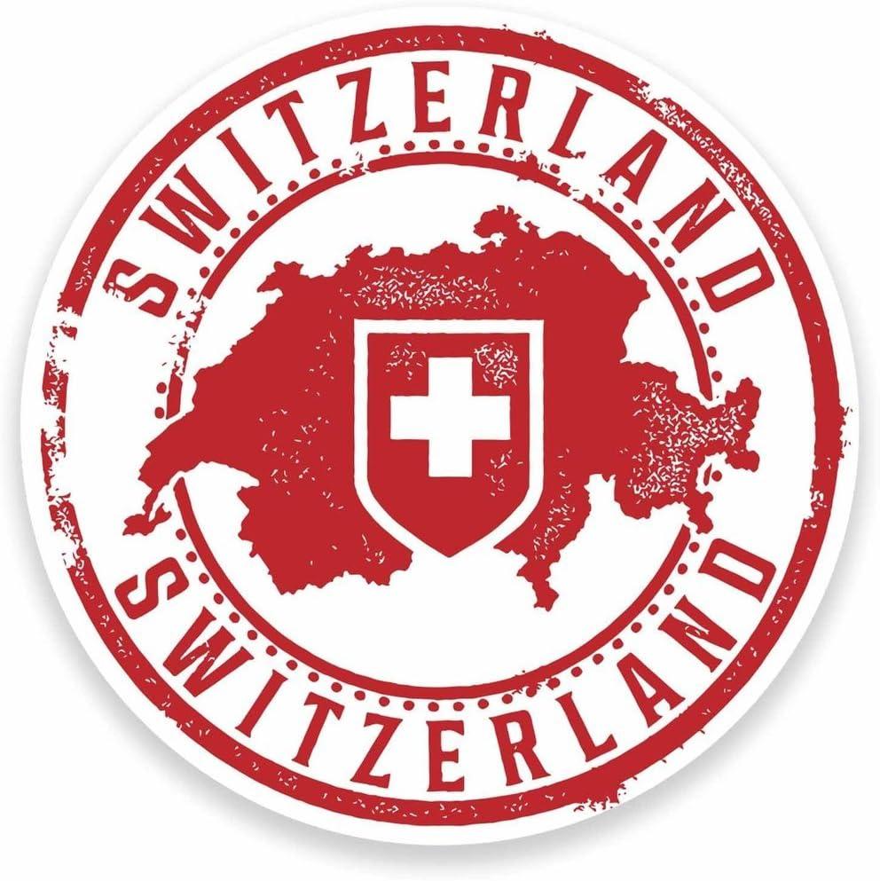 2 x 10cm/100mm Switzerland Vinyl Sticker Decal Laptop Car Travel Luggage Label Tag #9546