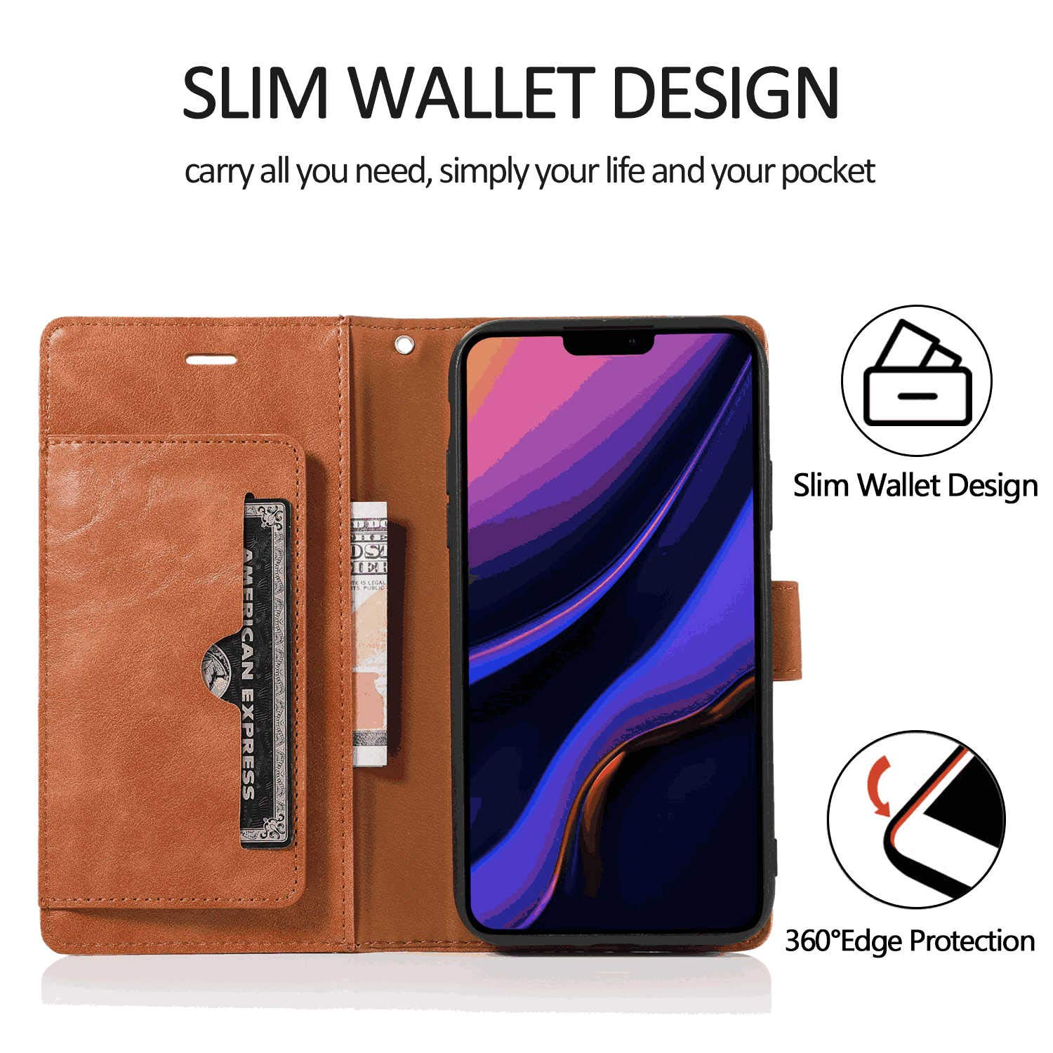 Samsung Galaxy S9 Plus Flip Case Cover for Leather Kickstand Wallet Cover Card Holders Luxury Business Flip Cover