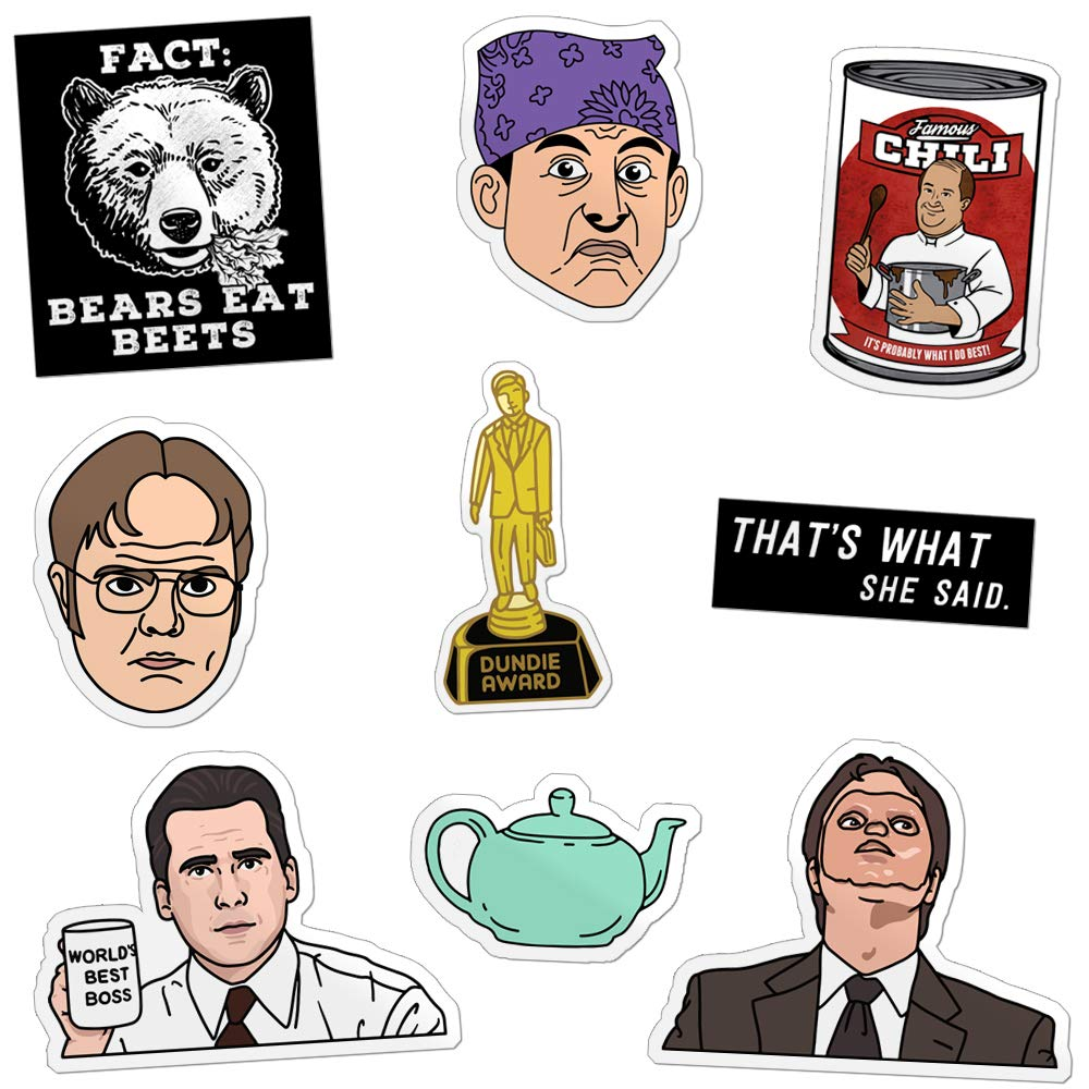 Daft Office Sticker Pack Prison Mike Dundie Chili Clarice Bears Beets Gift Pack 9 Stickers Series 2