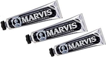 Pasta de dientes marvis Amarelli Regaliz 75 ml, 3-pack (3x 85 ml): Amazon.es: Salud y cuidado personal