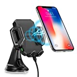 Wireless Car Charger,CHOETECH Fast Wireless Charger Car Phone Holder WIreless Car Phone Charger Mount Fast Charging Compatible with iPhone XS / XS Max / XR / X / 8 Plus / 8, Samsung S9, S9+ , Note 8, S8, S8+, S7, S7 Edge, S6 Edge+, Note 5 and other Qi-Enable Devices