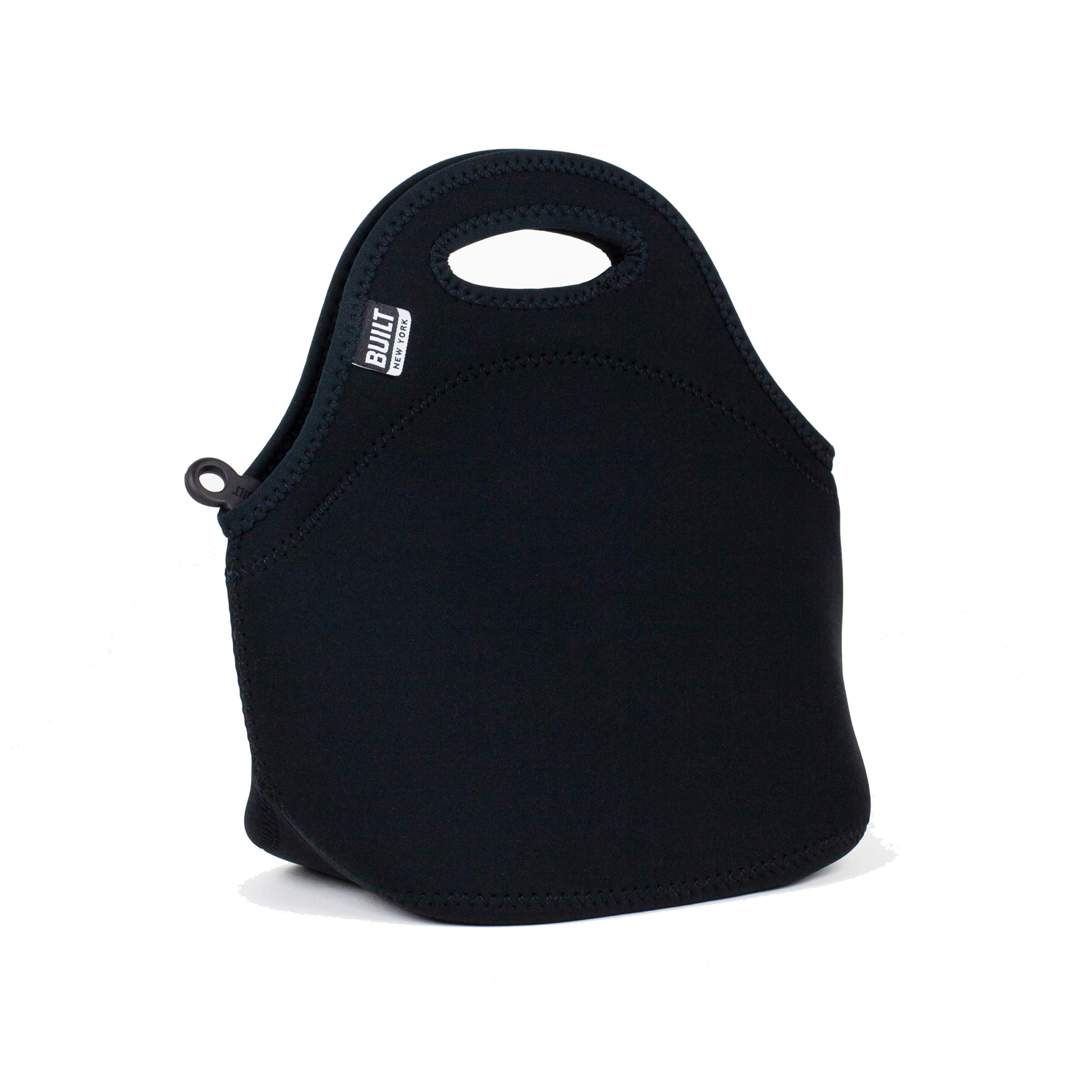 BUILT LB31-BLK Gourmet Getaway Soft Neoprene Lunch Tote Bag - Lightweight, Insulated and Reusable, Black by BUILT