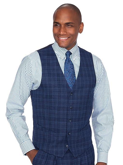 1920s Style Mens Vests Paul Fredrick Mens Wool Plaid Suit Vest $84.89 AT vintagedancer.com