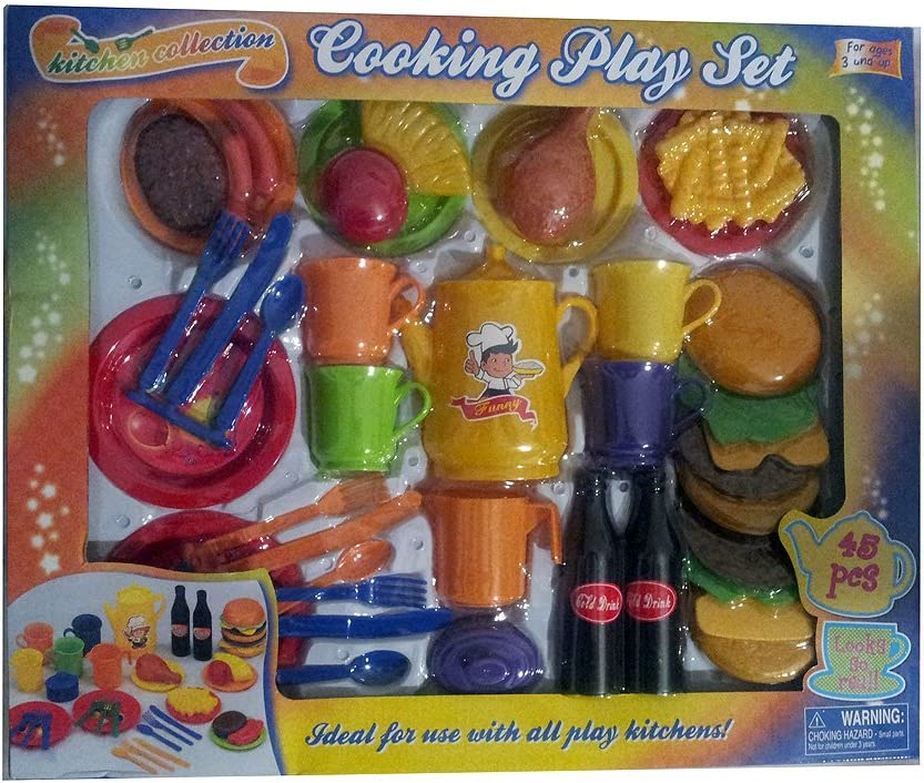 Kitchen Collection Cooking Playset 45 Pieces Toys Games