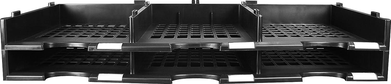 Storex 6-compartment文学オーガナイザーアドオンユニット、31.38 X 14.13 X 5.63インチ、ブラック( 61417u01 C )
