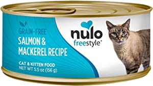 Nulo 1 Count Freestyle Grain Free Salmon & Mackerel Recipe Can Cat Food (24 Each), 5.5 Oz