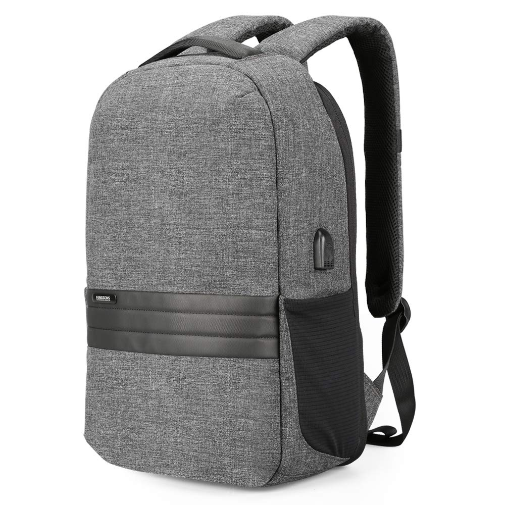 Kingsons Anti Theft Travel Backpack 15.6 inches Lightweight Men's Casual Daypack for Business Laptop Backpack USB Charging Port Trave Laptop Bag
