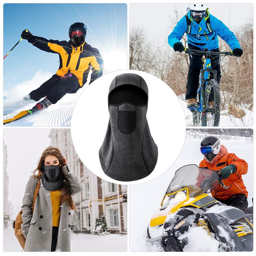 VBIGER Winter Balaclava Face Mask Windproof Ski Mask Cold Weather Face Mask for Men Women (Black)
