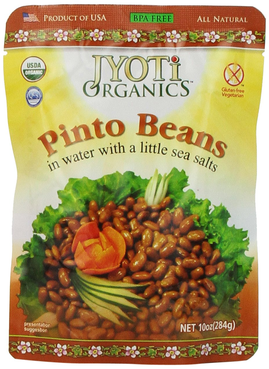 Jyoti Organic Pinto Beans, 10 Ounce (Pack of 6)