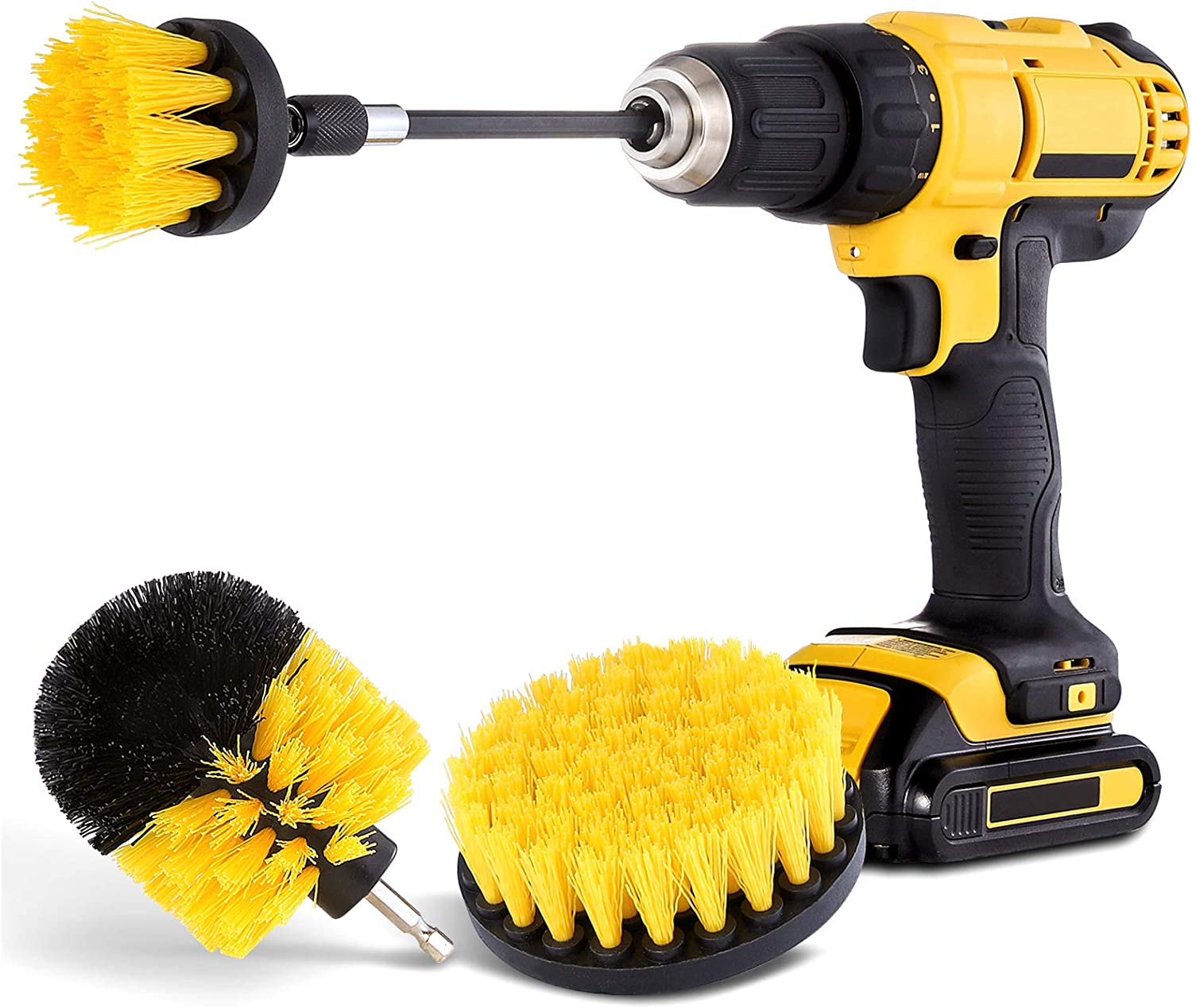 Amazon Com Drill Brush Attachment Set Power Scrubber Brush Cleaning Kit All Purpose Drill Brush With Extend Attachment For Bathroom Surfaces Grout Floor Tub Shower Tile Kitchen And Car Health