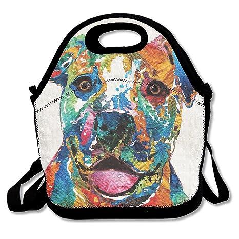 Amazon.com: Colorful Happy perro Pit Bull Bolsa para la ...