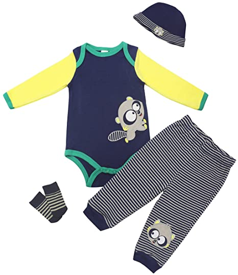 Vine Body para Bebé Pantalones Sombrero Calcetines 4 Piezas ...