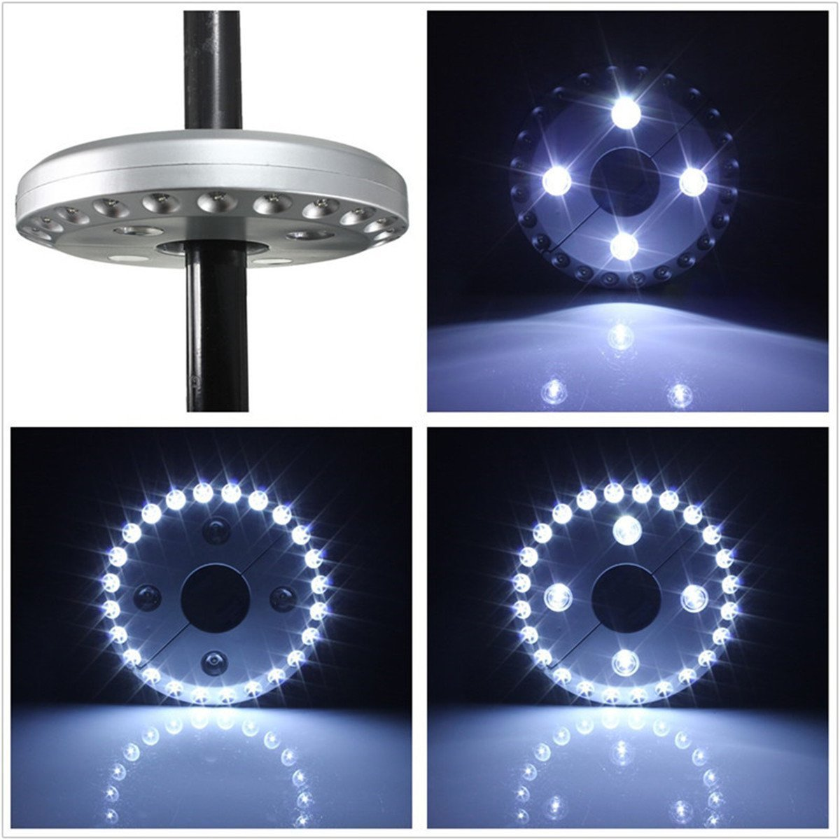 LSHCX Battery Powered 3 Level Dimming Patio Umbrella Light Wireless 28 LED Lights Umbrella Pole Light for Patio Umbrellas, or Camping Tents by LSHCX (Image #3)