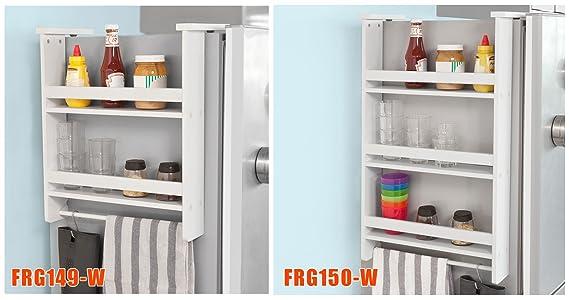 Kühlschrank Hänge Regal : Sobuy frg w hängeregal für kühlschrank mit haken türregal