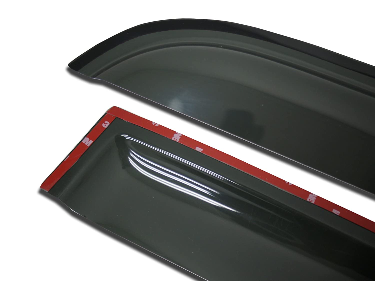 TuningPros WD-136 Tinted Smoke Out-Channel Window Visor Deflector Rain Guard 2-pc Set