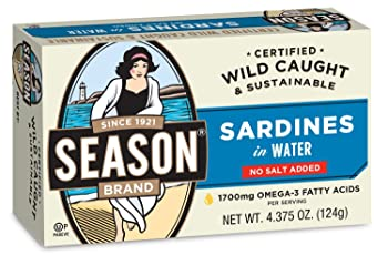 Season 1 4.375-oz Water Canned Sardine