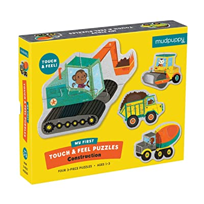 Mudpuppy Construction My First Touch & Feel (12 Piece) Puzzle: Mudpuppy, Ivanke: Toys & Games