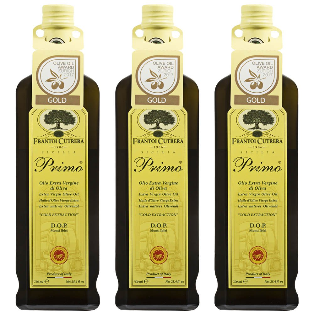Primo Extra Virgin Olive Oil Monti Iblei D.O.P. 24 floz Product Of Italy Pack of 3