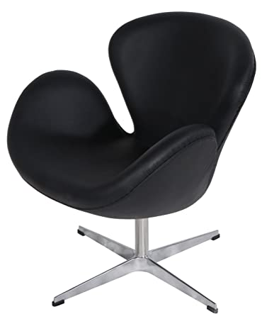 Amazoncom Mlf Arne Jacobsen Swan Chair Italian Leather Hand