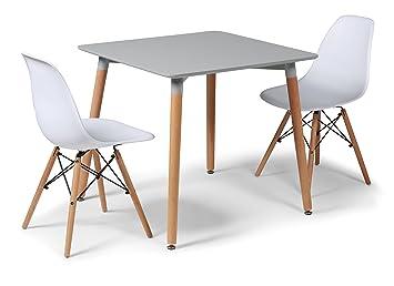 Eiffelturm Designer Esstisch Set Grau 80 Cms Kleinen Platz Tisch