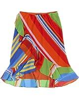 Ralph Lauren Womens Georgette Ruffled Tiered Skirt