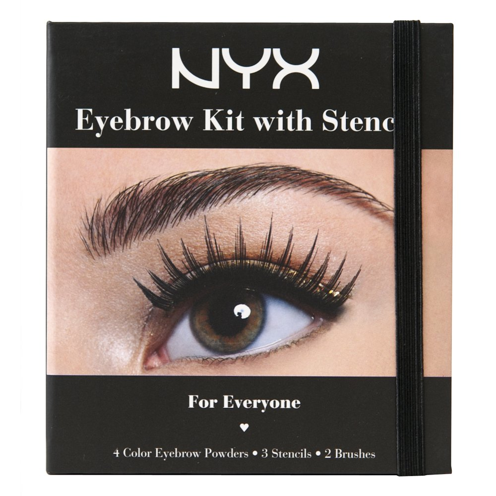 NYX Professional Makeup Eyebrow Kit Set With Stencil, 0.7 Oz NYX Cosmetics USA Inc. NYX-EBKS01