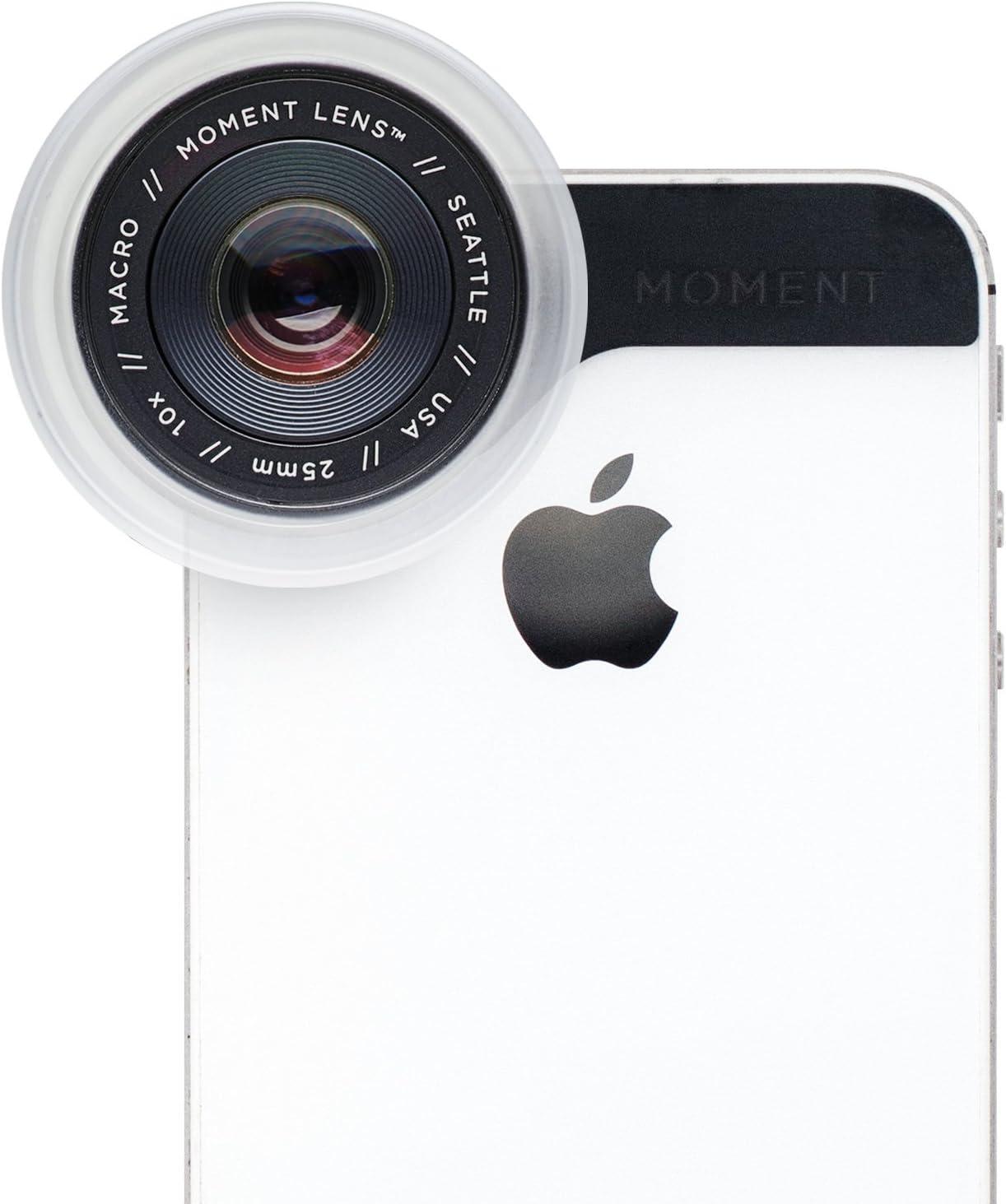 Momento Macro Lente – Lente Macro iPhone Smartphone – 10 x Macro Lente Kit – Multi Element, 10 x aumentos y 25 mm Longitud Focal Momento Macro Lente: Amazon.es: Electrónica