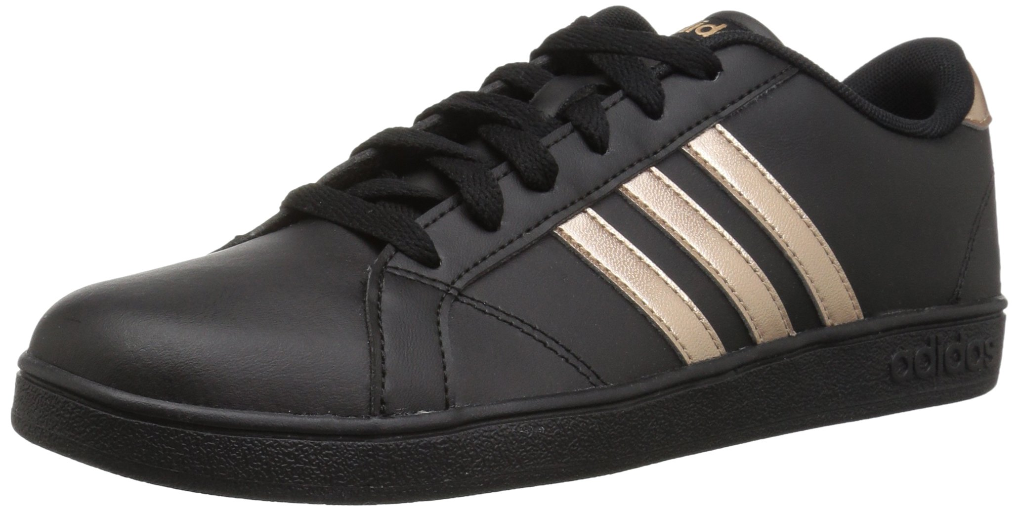 adidas Originals Unisex-Kids Baseline Sneaker, Black/Copper Metallic/Black, 13.5K M US Little Kid