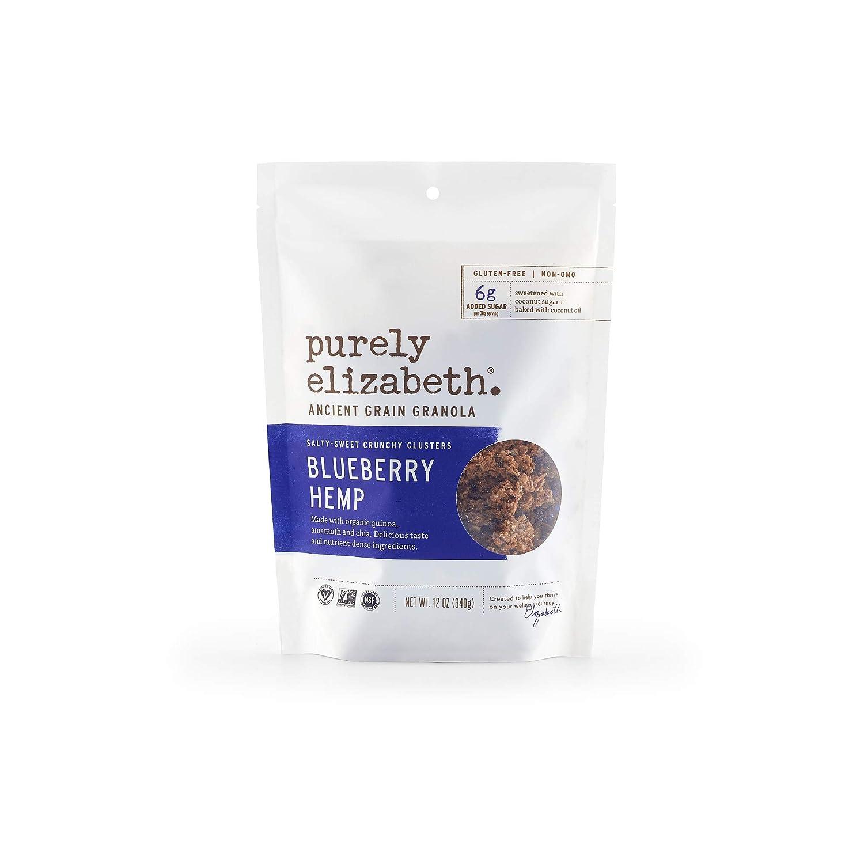 Purely Elizabeth Ancient Grain Granola - Certified Gluten-free, Vegan & Non-GMO | Coconut Sugar | Delicious Healthy Snack | Blueberry Hemp - 12oz