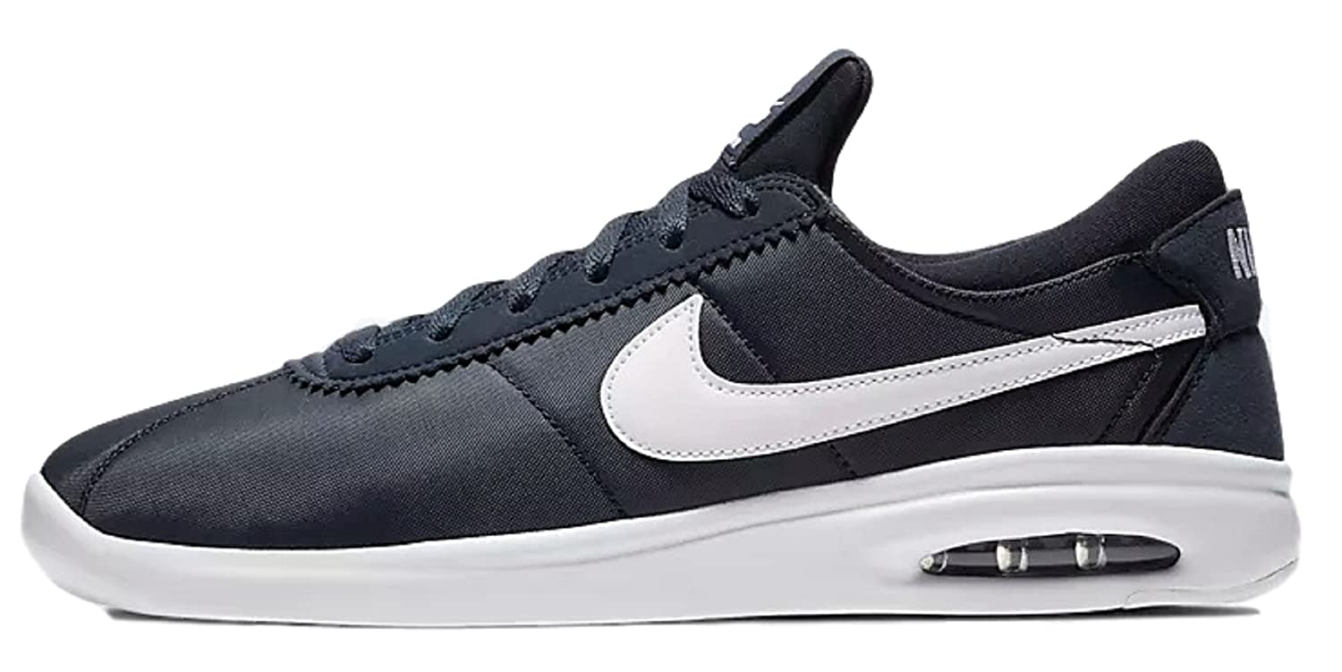 huge selection of 6fd1a a518d Amazon.com   NIKE SB Air Max Bruin Vapor Leather Men s Skateboarding Shoe  (12 B(M) US, Obsidian White White White)   Fashion Sneakers