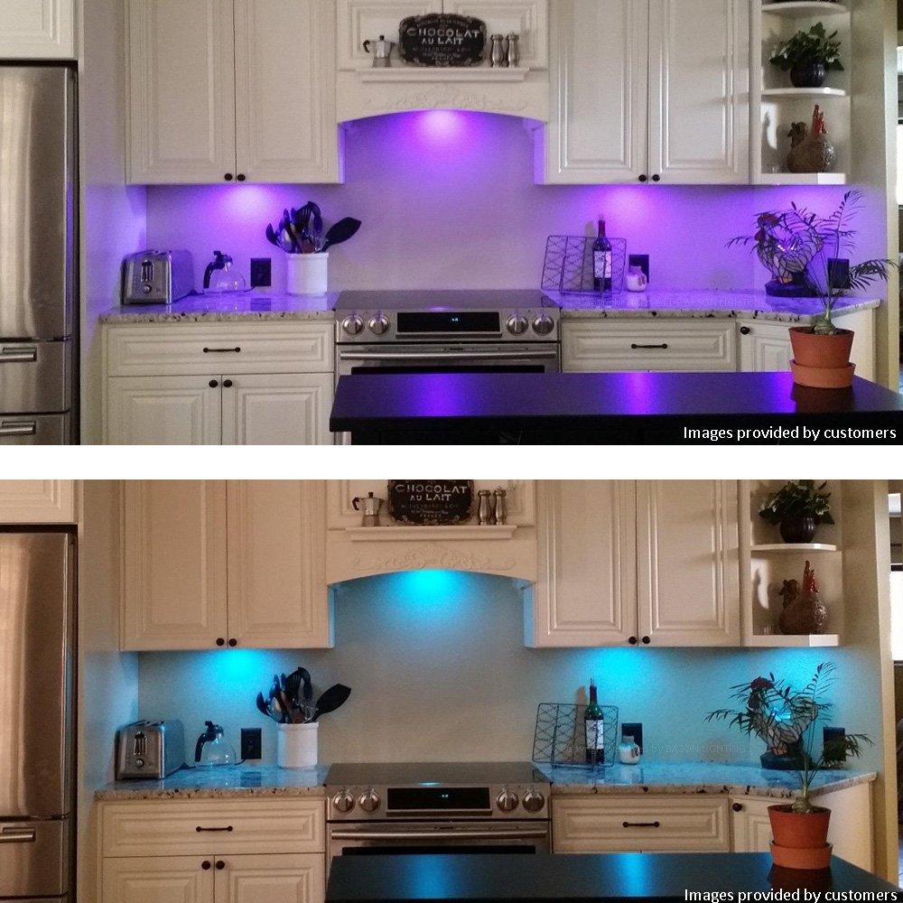LED Küche Unter Kabinett Beleuchtung Multi Farbe veränderbar LED ...