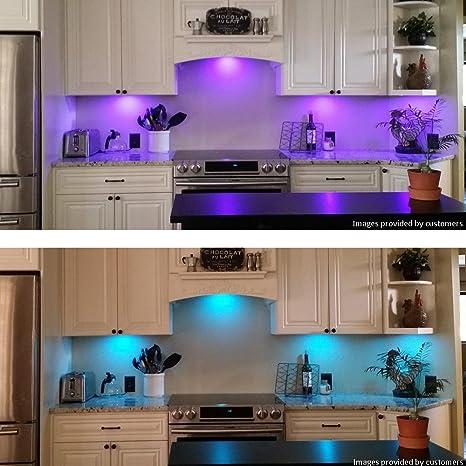 Amazoncom BASON RGB LED Under Cabinet Lighting Closet Puck