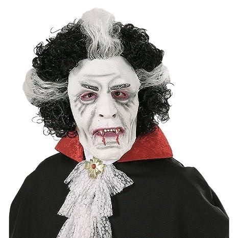 Trucco Halloween Vampiro Uomo.Mascherina Dracula In Lattice Maschera Da Vampiro Con Capelli Trucco