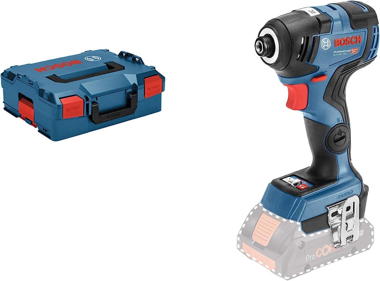 Bosch Professional GDR 18V-200 C Atornillador de impacto a batería, sin batería, 200 Nm, tornillos hasta M16, conectable, en L-BOXX, 18 V