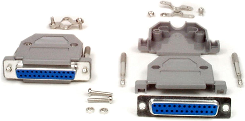 DB25 Female D-Sub connector w// Two Piece Backshells Hoods Metal