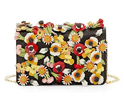 cb303809cdc8c8 Image Unavailable. Image not available for. Color: Prada Saffiano Garden Floral  Applique Misto Designer Crossbody Bag for Women 1BP006