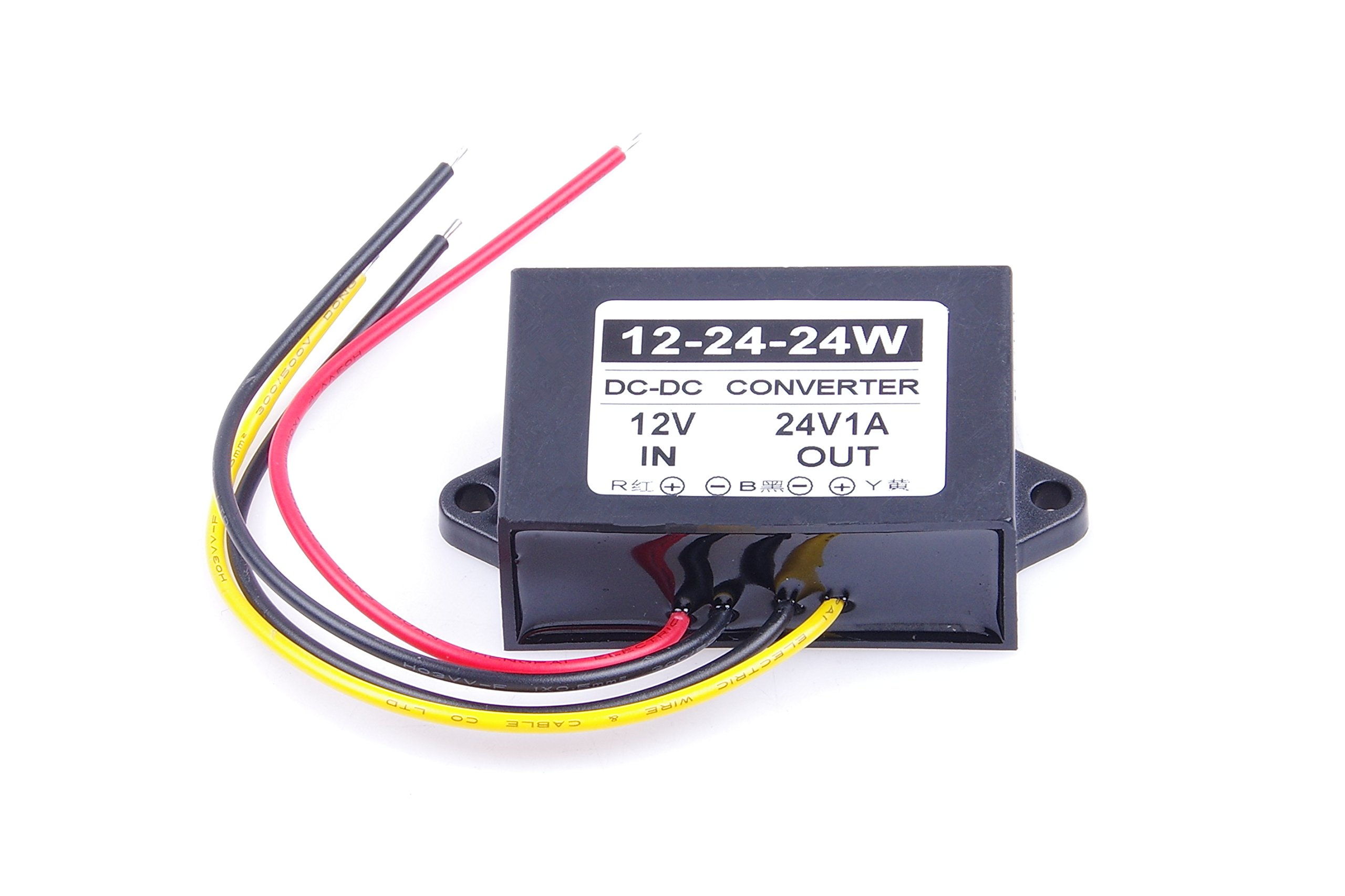 KNACRO Waterproof DC/DC Converter 12v (9~23V) Step UP to 24V/1A 24V 1A 24W Power Supply Module