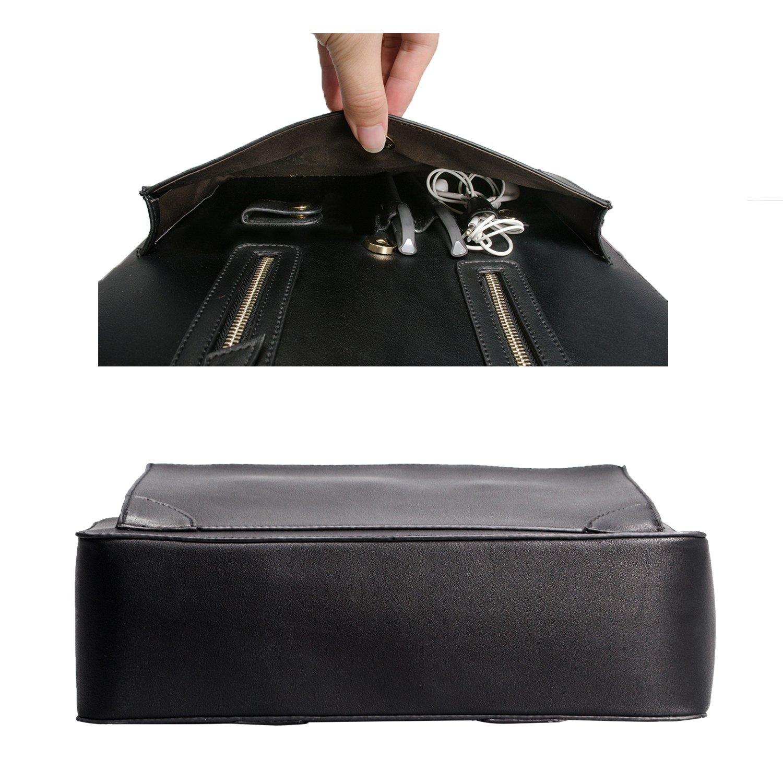 16194f098a593 Estarer Damen Aktentasche Bürotasche 15.6 Zoll Laptop Tasche in PU-Leder  Schwarz BGH0035 größeres Bild