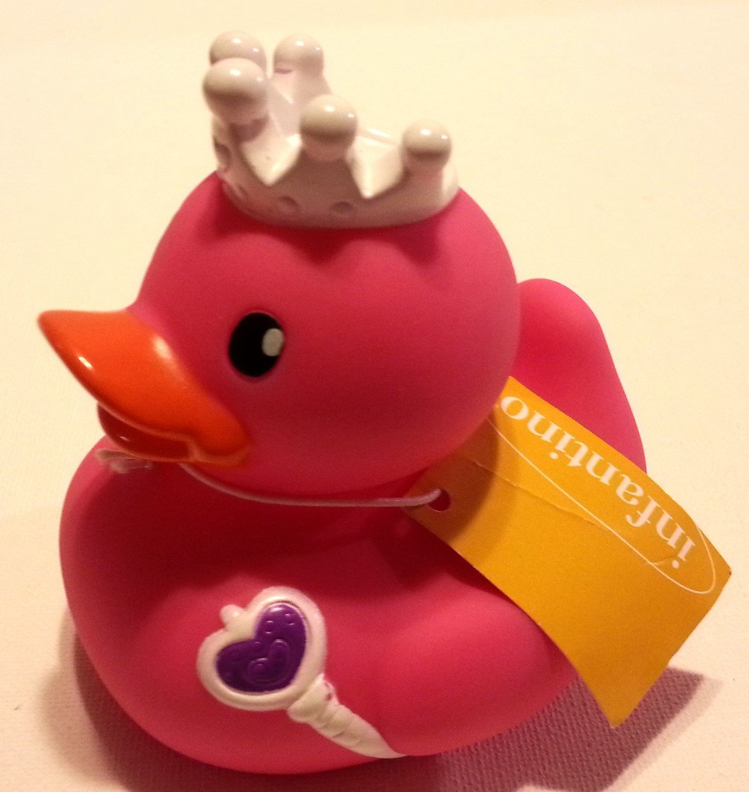 Amazon.com: Pink Princess Rubber Ducky by Infantino: Toys & Games
