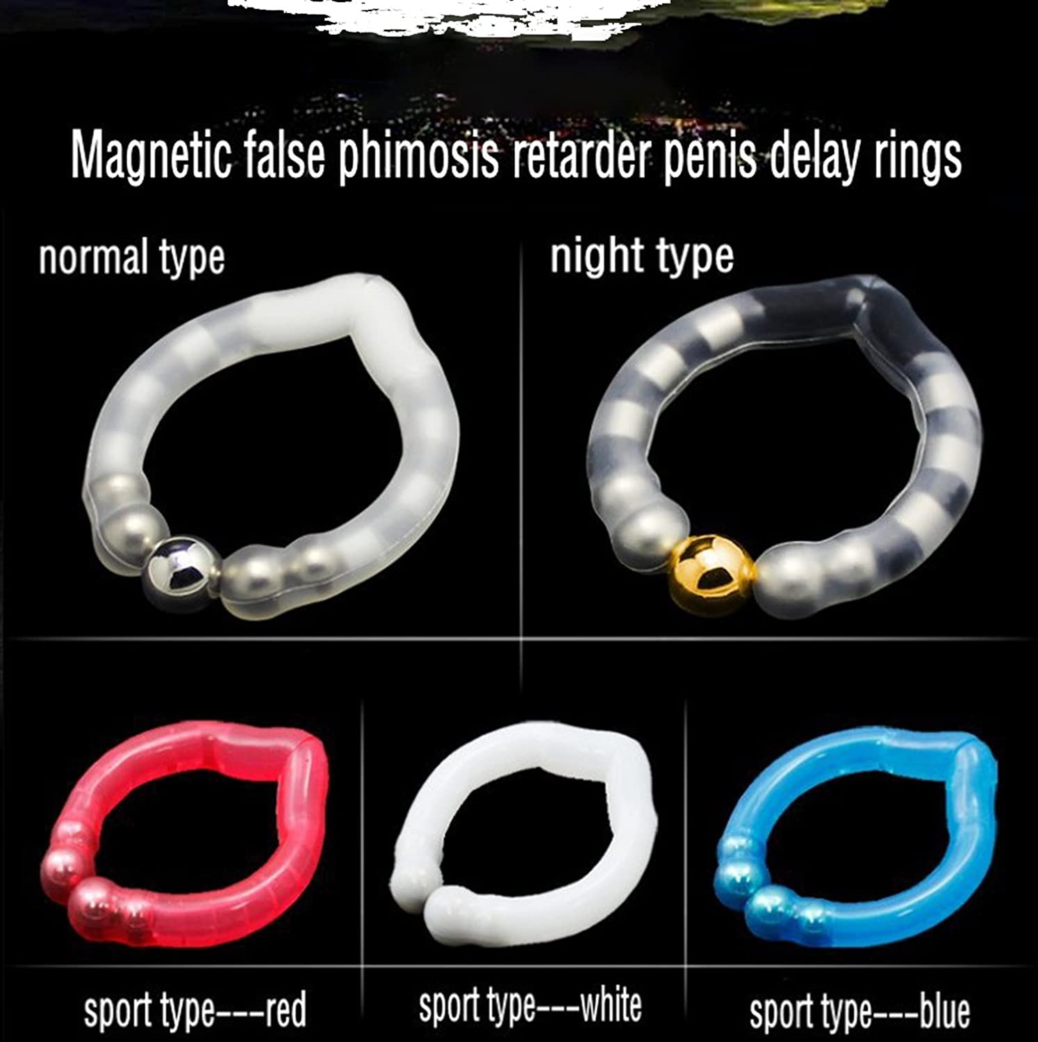 Amazon.com: tteuion Magnetic Ring False Phimosis retarder Penis Ring for  delay Ejaculation Adjustable Cock Rings Sex Products,Without Retail Box:  Health ...