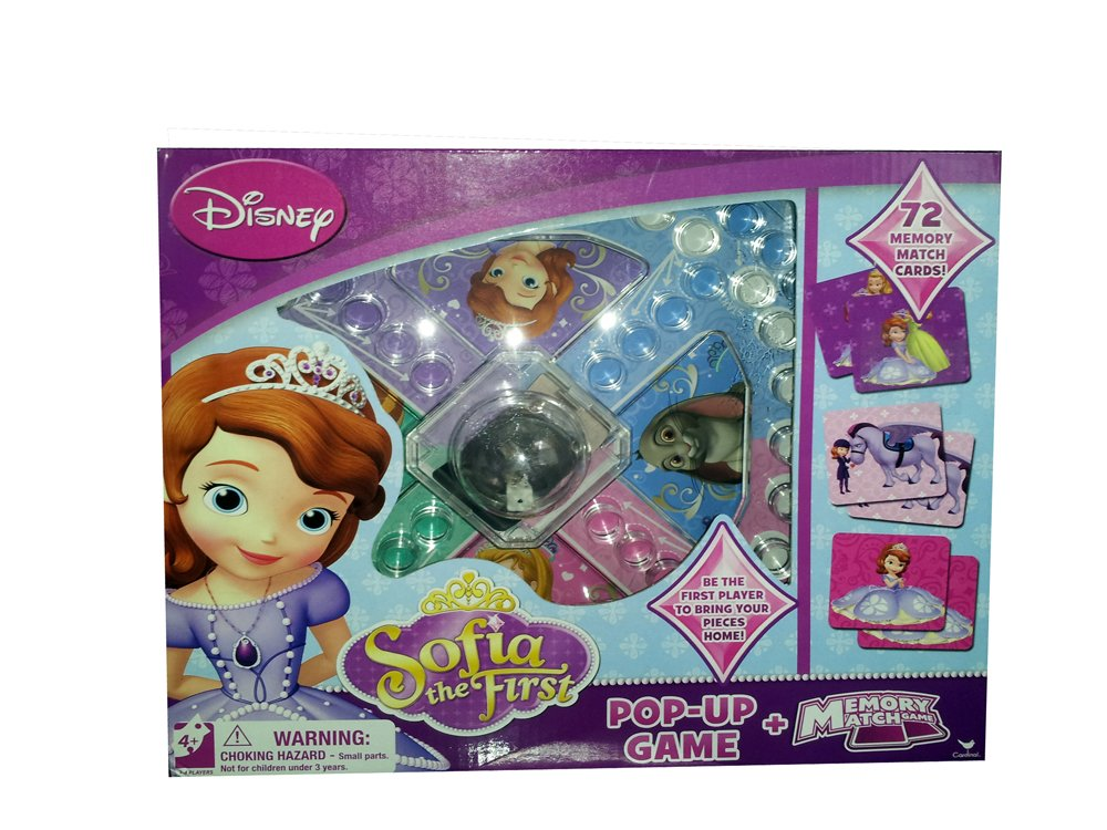 Amazon Disney Sofia The First Pop Up Game Plus Memory Match Toys Games