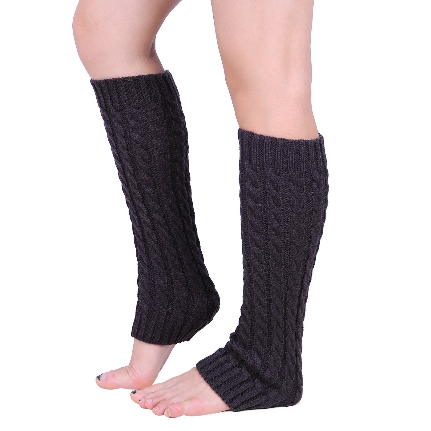 HDE Women's Cable Knit Leg Warmers Crochet Long Stockings Winter Boot Cuff Socks HDE-X261-2014